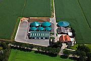 Nederland, Drenthe, Nieuweroord , 30-06-2011;.Kloosterman Biogas in Nieuweroord produceert groene stroom en groen gas door middel van een biovergistingsinstallatie waar biomassa omgezet wordt in elektriciteit en groen gas. Bio-fermentation plant to is convert biomass into electricity and green gas. .luchtfoto (toeslag), aerial photo (additional fee required).copyright foto/photo Siebe Swart