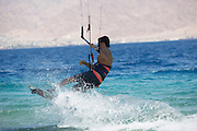 Kite surfing in the Gulf of Aqaba