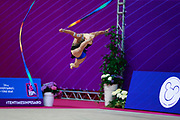 Polina Berezina Qualification Ribbon World Cup Pesaro 2018 Polina Berezina was born in Moscow in Russia on December 5th 1997, she has been living in Spain near Alicante for some years, her team is Club Torrevieja and she is coached by Mónica Ferrández.