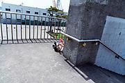 little boys playing with water pistols Yokosuka Japan