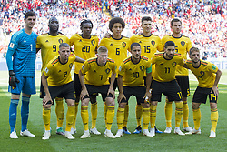 June 23, 2018 - Moscow, Russia - The Belgian national football team poses for photo during the 2018 FIFA World Cup Group G match between Belgium and Tunisia at Spartak Stadium in Moscow, Russia on June 23, 2018  (Credit Image: © Andrew Surma/NurPhoto via ZUMA Press)