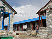 """The east face of Annapurna South (23,684 feet /  7219 meters), in Nepal.  Annapurna South (also known as Annapurna Dakshin, or Moditse) was first climbed in 1964 by a Japanese expedition, via the North Ridge. Annapurna is Sanskrit for """"Goddess of the Harvests."""" In Hinduism, Annapurna is a goddess of fertility and agriculture and an avatar of Durga."""