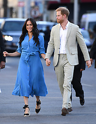 The Duke and Duchess of Sussex arrive at the District 6 Homecoming Centre where they were met by a small group of former residents in Cape Town, South Africa. Photo credit should read: Doug Peters/EMPICS