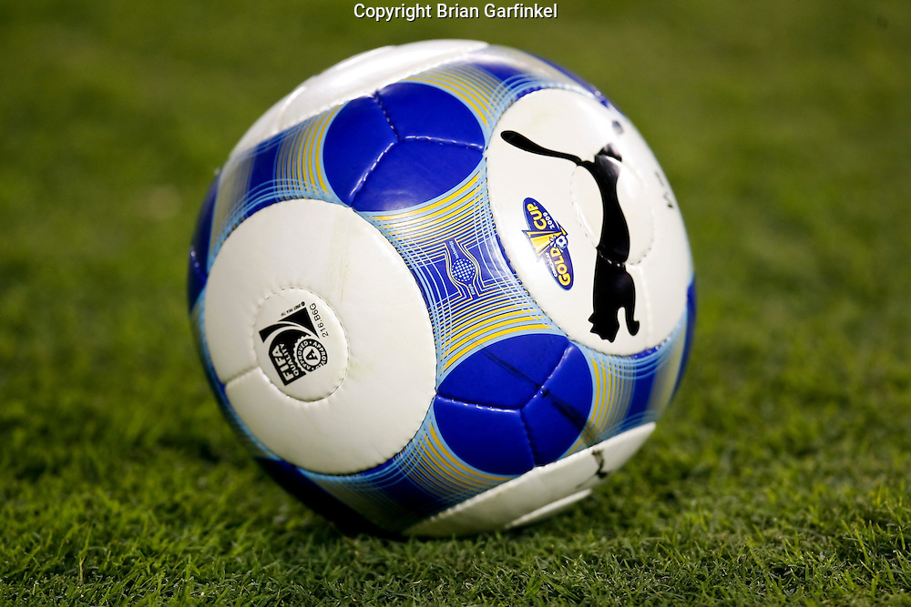 July 18 2009: A soccer ball on the field during the game between USA and Panama. The United States defeated Panama 2-1 in added extra time in a CONCACAF Gold Cup quarter-final match at Lincoln Financial Field in Philadelphia, Pennsylvania.