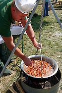 Ozporkolt ( deer porkolt) . Paprika food festival, Kalocsa. Hungary .<br /> <br /> Visit our HUNGARY HISTORIC PLACES PHOTO COLLECTIONS for more photos to download or buy as wall art prints https://funkystock.photoshelter.com/gallery-collection/Pictures-Images-of-Hungary-Photos-of-Hungarian-Historic-Landmark-Sites/C0000Te8AnPgxjRg