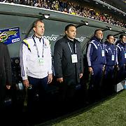 Fenerbahce's coach Ismail Kartal (L) during their Turkish superleague soccer match Fenerbahce between Eskisehirspor at the Sukru Saracaoglu stadium in Istanbul Turkey on Saturday 30 November 2014. Photo by Kurtulus YILMAZ/TURKPIX
