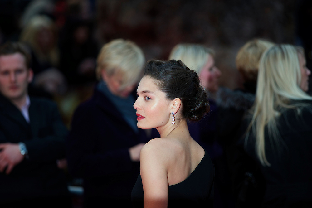 """Actress Alexa Davalos attends the world premiere of """"The Clash of the Titans,"""" a remake of the 1981 film, at Empire Leicester Square, London.  With a narrative inspired by the Greek myth of Perseus, Leicester Square was transformed into a ancient Greek setting, complete with a legion of soldiers, columns and scultpture ruins."""