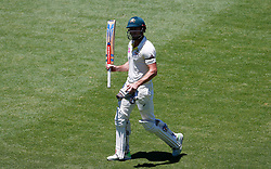 Australia's Shaun Marsh walks off after being dismissed during day four of the Ashes Test match at Sydney Cricket Ground.