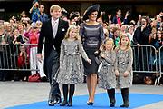 Bruiloft van Viktória Cservenyák met prins Jaime de Bourbon de Parme in de Onze Lieve Vrouwe ten Hemelopnemingkerk, Apeldoorn.<br /> <br /> Wedding of Viktoria Cservenyák with Prince Jaime de Bourbon Parme in Our Lady at Ascension Church, Apeldoorn.<br /> <br /> Op de foto / On the photo: <br /> <br /> <br /> <br />  Koning Willem-Alexander en Koningin Maxima met Prinses Amalia en Prinses Alexia en Prinses Ariane. King Willem-Alexander, Princess Maxima and Queen Amalia and Princess Alexia and Princess Ariane.