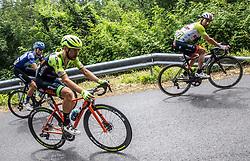 Aleksandr Vlasov (RUS) of Gazprom - Rusvelo, Giovanni Visconti (ITA) of Neri Sottoli Selle Italia KTM and Diego Ulissi (ITA) of UAE Team Emirates during 4th Stage of 26th Tour of Slovenia 2019 cycling race between Nova Gorica and Ajdovscina (153,9 km), on June 22, 2019 in Slovenia. Photo by Vid Ponikvar / Sportida