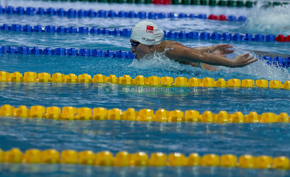 October 4, 2018 - Budapest, Hungary - Zhang Yufei of China competes in the Womens 200m Butterfly on day one of the FINA Swimming World Cup held at Duna Arena Swimming Stadium on Okt 04, 2018 in Budapest, Hungary. (Credit Image: © Robert Szaniszlo/NurPhoto/ZUMA Press)