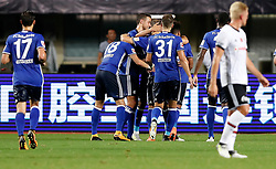 ZHUHAI, July 19, 2017 Players of FC Schalke 04 celebrate Amine Harit's goal during a pre-season soccer match between Bundesliga's FC Schalke 04 and Turkish Super League champion Besiktas JK at Zhuhai Sports Center Stadium in Zhuhai, south China's Guangdong Province, July 19, 2017. FC Schalke 04 won 3-2. (Credit Image: © Wang Lili/Xinhua via ZUMA Wire)