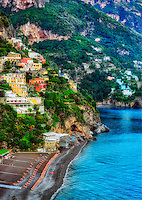 """Positano rainy evening on the beach""…<br />
