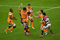 Rugby Union - 2020 / 2021 European Rugby Challenge Cup - Final - Leicester Tigers vs Montpellier - Twickenham<br /> <br /> Montpellier's Anthony Bouthier claims a high ball.<br /> <br /> COLORSPORT/ASHLEY WESTERN