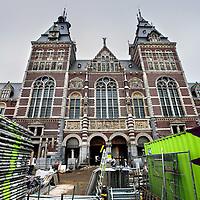 Nederland, Amsterdam , 25 januari 2012..De fietsdoorgang van het Rijksmuseum is nog niet klaar..Foto:Jean-Pierre Jans