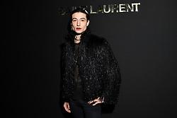 Ezra Miller attends the Saint Laurent show as part of the Paris Fashion Week Womenswear Fall/Winter 2019/2020 on February 26, 2019 in Paris, France. Photo by Laurent Zabulon/ABACAPRESS.COM