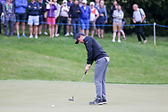 Rory Mcllroy hits a putt on the green during the Celebrity Pro-Am day at Wentworth Club, Virginia Water, United Kingdom on 23 May 2018. Picture by Phil Duncan.