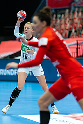 Kim Naidzinavicius of Germany during the Women's EHF Euro 2020 match between Germany and Poland at Sydbank Arena on december 07, 2020 in Kolding, Denmark (Photo by RHF Agency/Ronald Hoogendoorn)