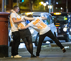 """© Licensed to London News Pictures . 15/11/2015 . Manchester , UK . Annual student pub crawl """" Carnage """" at Manchester's Deansgate Locks nightclubs venue . The event sees students visit several clubs over the course of an evening . This year's theme is """" Animal Instinct - unleash your beast """" . Photo credit : Joel Goodman/LNP"""