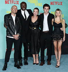 Singer-songwriter Seal (Henry Olusegun Adeola Samuel), girlfriend Laura Strayer, Aris Rachevsky and model Leni Olumi Klum arrive at the Los Angeles Premiere Of Netflix's 'The Harder They Fall' held at the Shrine Auditorium and Expo Hall on October 13, 2021 in Los Angeles, California, United States. Photo by Xavier Collin/Image Press Agency/ABACAPRESS.COM