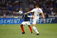 Joe Corona of USA and N'Golo Kante of France during the 2018 Friendly Game football match between France and USA on June 9, 2018 at Groupama stadium in Decines-Charpieu near Lyon, France - Photo Romain Biard / Isports / ProSportsImages / DPPI