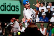 Roland Garros 2011. Paris, France. May 24th 2011..American player John ISNER against  Rafael NADAL
