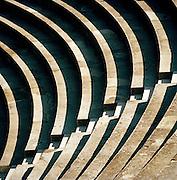 Seats at the Théâtre antique d'Orange, The Ancient Theatre of Orange, a UNESCO World Heritage Site, Orange, France