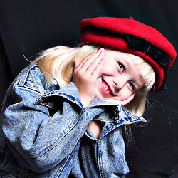 gentle, girls, edge of womanhood, child, puppy, smiles, laughs, freckles, black, white, latina, sunglasses, witches hat, blonde, beret, precious