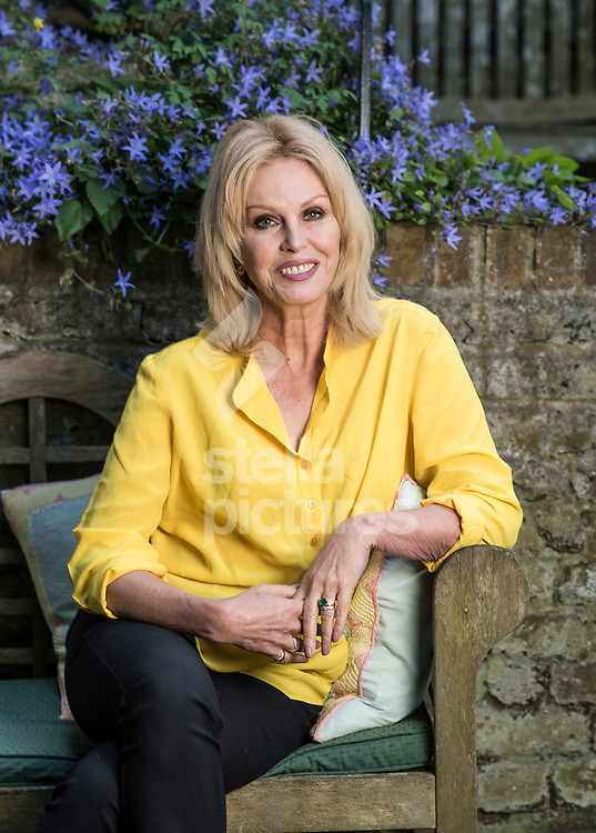 English actress, voice-over artist, former model, author and activist, Joanna Lumley pictured at her south London home.<br /> Picture by Daniel Hambury/Stella Pictures Ltd 07813022858<br /> 13/06/2017