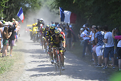 July 15, 2018 - Roubaix, France - ROUBAIX, FRANCE - JULY 15 : COUSIN Jerome (FRA) of Direct Energie during stage 9 of the 105th edition of the 2018 Tour de France cycling race, a stage of 156.5 kms between Arras Citadel and Roubaix on July 15, 2018 in Roubaix, France, 15/07/18 (Credit Image: © Panoramic via ZUMA Press)