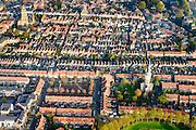 Nederland, Zuid-Holland, Schoonhoven, 28-10-2014; stadsgezicht met Grote of Bartholomeuskerk Links) en watertoren (rechts).<br /> luchtfoto (toeslag op standard tarieven); aerial photo (additional fee required); <br /> copyright foto/photo Siebe Swart