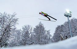 20.01.2018, Heini Klopfer Skiflugschanze, Oberstdorf, GER, FIS Skiflug Weltmeisterschaft, Einzelbewerb, im Bild Manuel Poppinger (AUT) // Manuel Poppinger of Austria during individual competition of the FIS Ski Flying World Championships at the Heini-Klopfer Skiflying Hill in Oberstdorf, Germany on 2018/01/20. EXPA Pictures © 2018, PhotoCredit: EXPA/ JFK