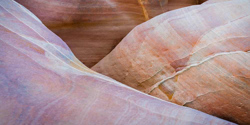 Ever changing erosion in Pastel Canyon, part of the Valley of Fire State Park in Nevada. The wind and water has carved out the zig zag patterns in the sandstone.