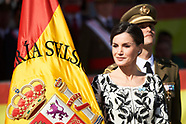 022319 Queen Letizia attends the Delivery of the National Flag to the 'Napoles' Infantry Regiment 4