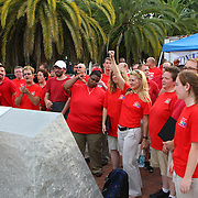 "The Orlando Gay Chorus gathers in Lake Eola park during the ""Marriage Equality Rally"" at the Lake Eola bandshell in downtown Orlando, Florida on Thursday, June 27, 2013. Orlando's gay community and its supporters are celebrating the U.S. Supreme Court rulings on gay marriage and the Defense of Marriage Act (DOMA) reversal that constitutionally denied legally married gay couples federal benefits. (AP Photo/Alex Menendez)"
