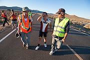 Teagan Patterson. In Battle Mountain (Nevada) wordt ieder jaar de World Human Powered Speed Challenge gehouden. Tijdens deze wedstrijd wordt geprobeerd zo hard mogelijk te fietsen op pure menskracht. Ze halen snelheden tot 133 km/h. De deelnemers bestaan zowel uit teams van universiteiten als uit hobbyisten. Met de gestroomlijnde fietsen willen ze laten zien wat mogelijk is met menskracht. De speciale ligfietsen kunnen gezien worden als de Formule 1 van het fietsen. De kennis die wordt opgedaan wordt ook gebruikt om duurzaam vervoer verder te ontwikkelen.<br /> <br /> In Battle Mountain (Nevada) each year the World Human Powered Speed Challenge is held. During this race they try to ride on pure manpower as hard as possible. Speeds up to 133 km/h are reached. The participants consist of both teams from universities and from hobbyists. With the sleek bikes they want to show what is possible with human power. The special recumbent bicycles can be seen as the Formula 1 of the bicycle. The knowledge gained is also used to develop sustainable transport.