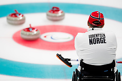 March 10, 2018 - Pyeongchang, SOUTH KOREA - 180310 Rune Lorentsen of Norway during the wheelchair curling mixed round robin session between Canada and Norway during day one of the 2018 Winter Paralympics on March 10, 2018 in Pyeongchang..Photo: Vegard Wivestad GrÂ¿tt / BILDBYRN / kod VG / 170114 (Credit Image: © Vegard Wivestad Gr¯Tt/Bildbyran via ZUMA Press)