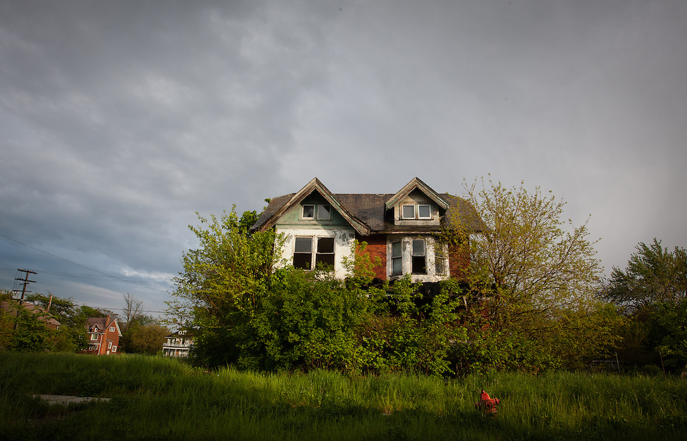 Abandoned blighted house in Detroit.