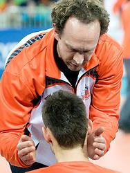 Head Coach Lorenzo Bernardi of Jastrzebski during volleyball match between ACH Volley (SLO) and Jastrzebski Wegiel (POL) in 6th Round of 2011 CEV Champions League, on January 12, 2011 in Arena Stozice, Ljubljana, Slovenia. (Photo By Matic Klansek Velej / Sportida.com)