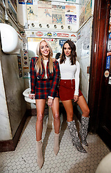 Alexandra Cooper and Sofia Franklyn from the Barstool podcast Call Her Daddy are pictured at Foley's sports bar on December 4, 2018. **NO NEW YORK DAILY NEWS, NO NEW YORK TIMES, NO NEWSDAY**. 04 Dec 2018 Pictured: Sofia Franklyn, Alexandra Cooper. Photo credit: Annie Wermiel/NY Post/MEGA TheMegaAgency.com +1 888 505 6342