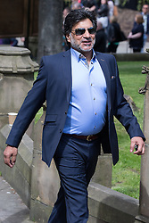 © Licensed to London News Pictures . 30/05/2015 . Manchester , UK . Marc Anwar arriving . A public memorial for Coronation Street actress Anne Kirkbride at Manchester Cathedral , who died on 19th January 2015 . Photo credit : Joel Goodman/LNP