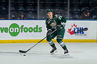 KELOWNA, BC - FEBRUARY 15:  Wyatte Wylie #29 of the Everett Silvertips skates with the puck against the Kelowna Rockets at Prospera Place on February 15, 2019 in Kelowna, Canada. (Photo by Marissa Baecker/Getty Images)