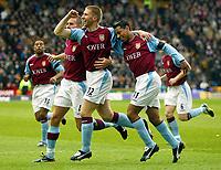 Photo: Scott Heavey.<br /> Wolverhampton Wanderers v Aston Villa. FA Barclaycard Premiership. 14/03/2004.<br /> Thomas Hitzlsperger celebrates with Nolberto Solano (R) after scoring the first goal of the day