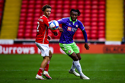 Antoine Semenyo of Bristol City takes on Jordan Williams of Barnsley - Mandatory by-line: Robbie Stephenson/JMP - 17/10/2020 - FOOTBALL - Oakwell Stadium - Barnsley, England - Barnsley v Bristol City - Sky Bet Championship