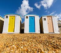 Beach huts at Ventnor