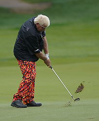 May 24, 2019 - Benton Harbor, NY, U.S. - ROCHESTER, NY - MAY 24: John Daly hits his approach shot during the second round of the KitchenAid Senior PGA Championship at Oak Hill Country Club on May 24, 2019 in Rochester, New York. (Photo by Jerome Davis/Icon Sportswire) (Credit Image: © Jerome Davis/Icon SMI via ZUMA Press)