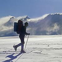 ANTARCTICA, Conrad Anker leaves base camp, Ulvetanna bkg.