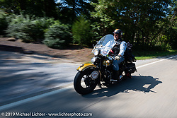 Kansan Terry Richardson riding his 1946 Harley-Davidson FL Knucklehead in the