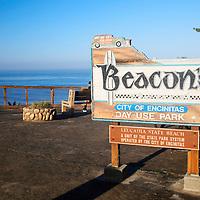 USA, California, Encinitas. Beacon's Beach Park, Leucadia (Encinitas)