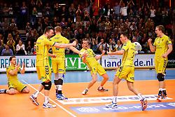 20150426 NED: Eredivisie Landstede Volleybal - Abiant Lycurgus, Zwolle<br />Landstede Volleybal is Landskampioen Volleybal 2014 - 2015<br />©2015-FotoHoogendoorn.nl / Pim Waslander